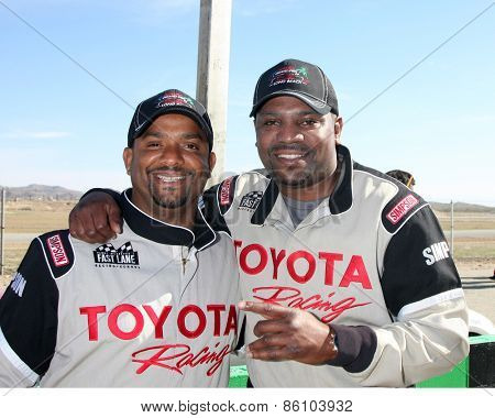 LOS ANGELES - FEB 21:  Alfonso Ribiero, Mekhi Phifer at the Grand Prix of Long Beach Pro/Celebrity Race Training at the Willow Springs International Raceway on March 21, 2015 in Rosamond, CA