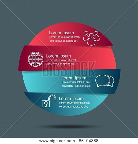 Vector Circle Banners Infographic Template
