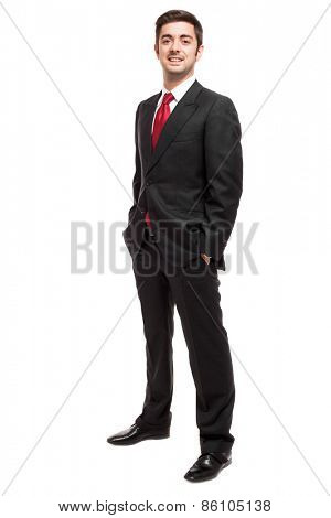 Mature businessman full length