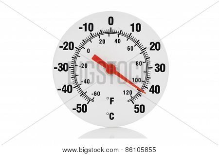 Isolated Thermometer On White