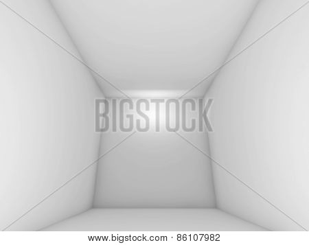 Abstract White Empty Room Interior With Spot Light
