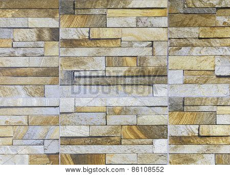 Sandstone Tile Wall