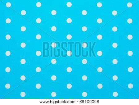 Retro Blue Polka Dot Pattern