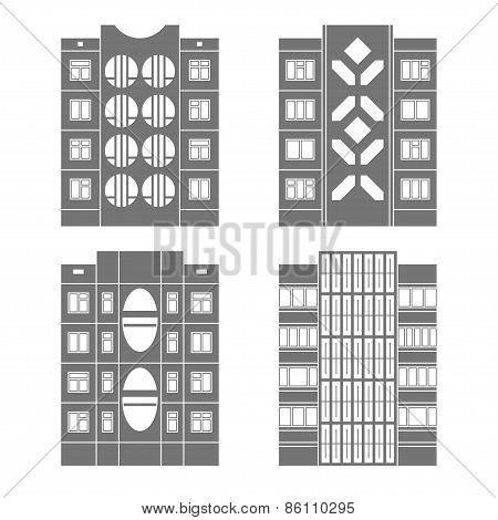 Panel houses set