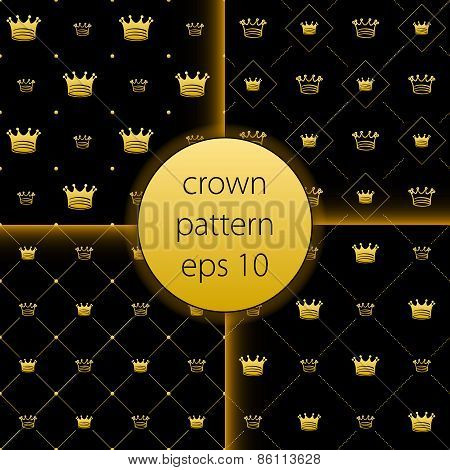 Crown Vector Collection Gold Big Set Icons
