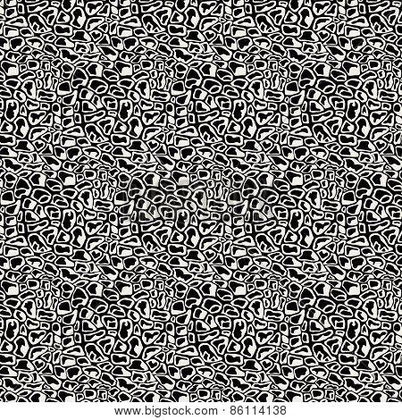 Vector Illustration Pattern Black And White Animal Background