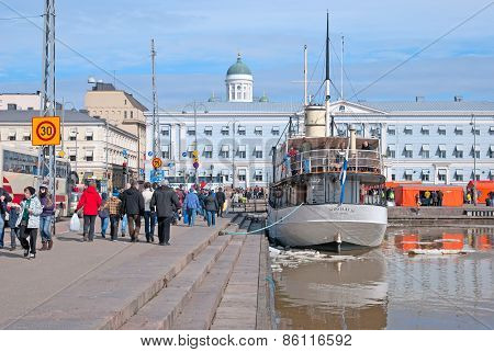 Helsinki. Finland. Floating Restaurant Nicholas II