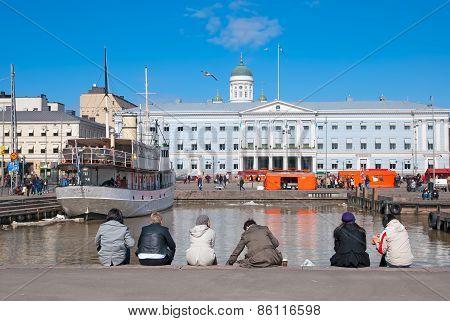Helsinki. Finland. Harbor near Market Square