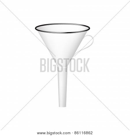 Funnel in black and white design