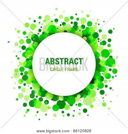 Green Bright  Abstract Circle Frame Design Element