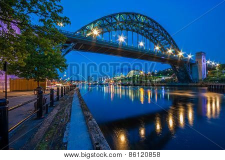 Tyne Bridge in Newcastle Upon Tyne, England