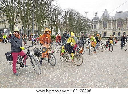 The Velorution Lille (59 Nord, France) Saturday, March 14, 2015, the Palais des Beaux Arts