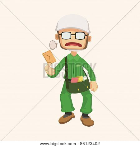 People Theme Postman Elements Vector,eps