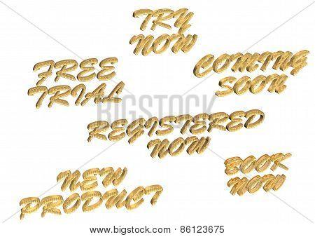 Set Of Inscriptions For Sale.
