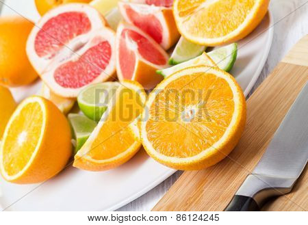 Pieces Of Citrus Fruits