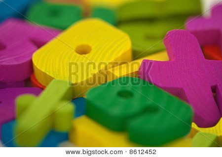 Wooden Toys Extreme Close Up