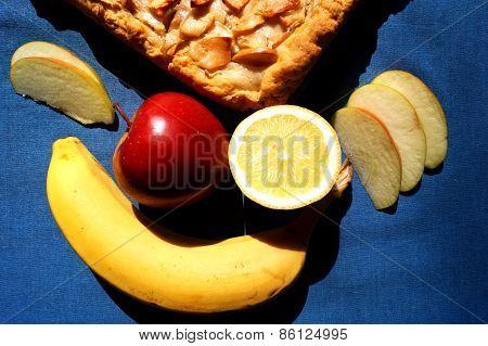 Cobbler (pie with apple, banana, lemon)