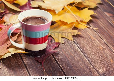 Coffee Cup On The Autumn
