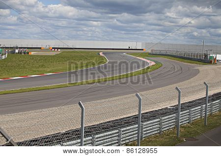 Empty Motorsport Racetrack