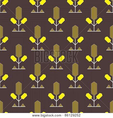 Yellow decorative pattern