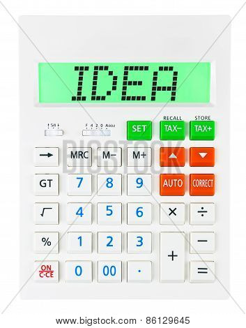 Calculator With Idea