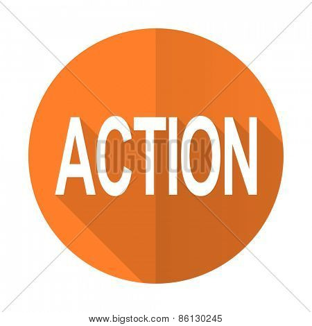 action orange flat icon