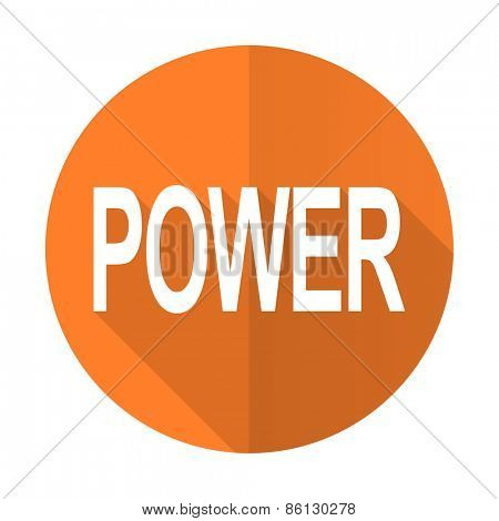 power orange flat icon