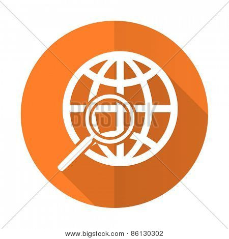 search orange flat icon