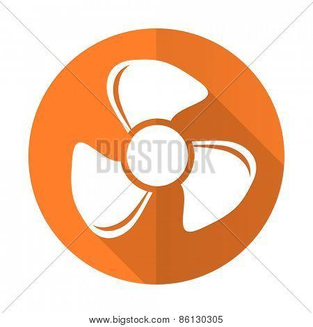 fan orange flat icon