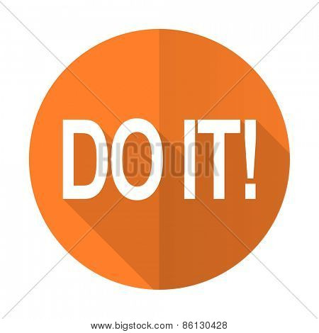 do it orange flat icon