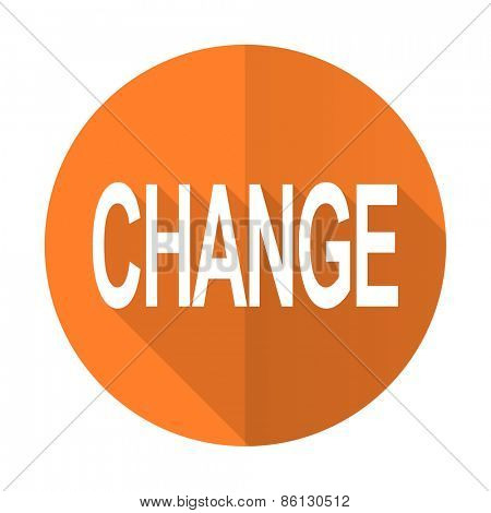 change orange flat icon