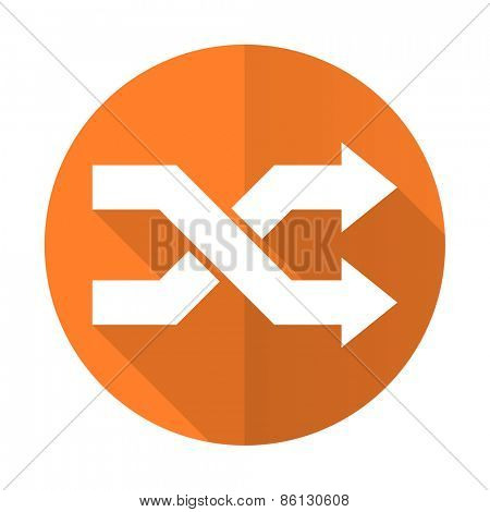 aleatory orange flat icon