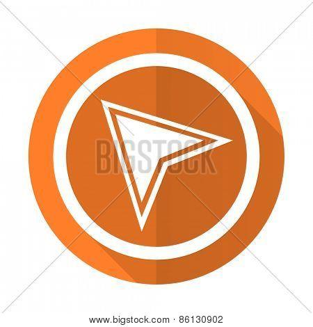 navigation orange flat icon