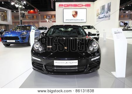 BANGKOK - MARCH 25: Porsche Panamera Hybrid car on display at The 36 th Bangkok International Motor