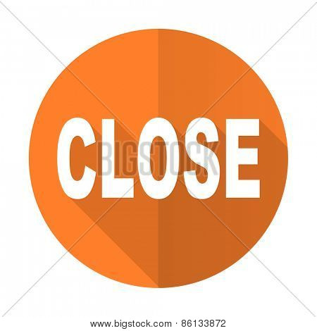 close orange flat icon