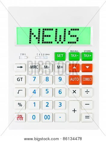 Calculator With News