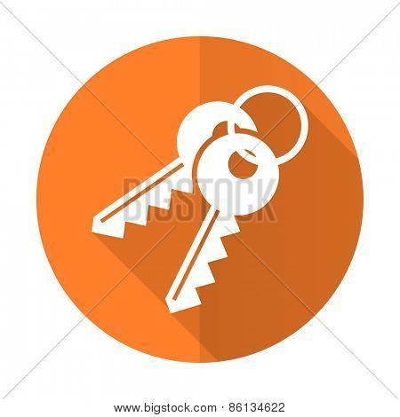 keys orange flat icon