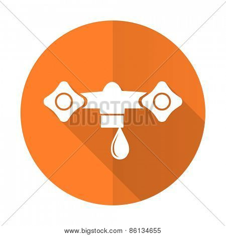 water orange flat icon hydraulics sign