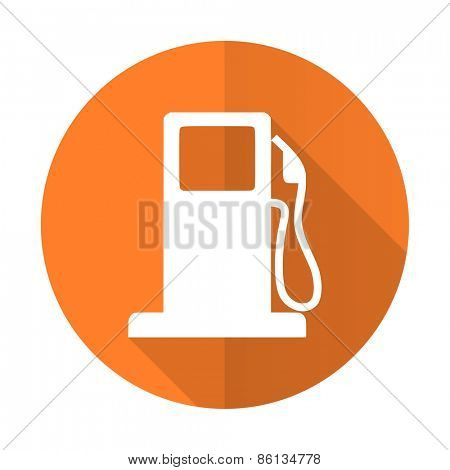 petrol orange flat icon gas station sign