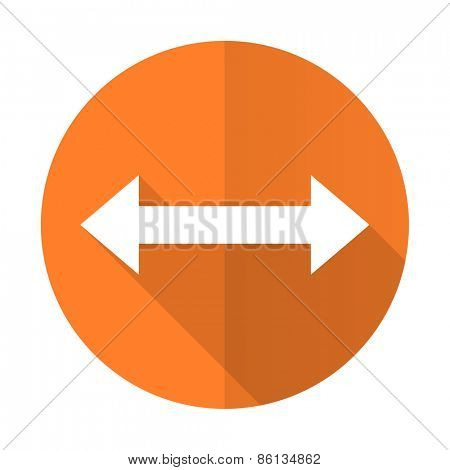 arrow orange flat icon