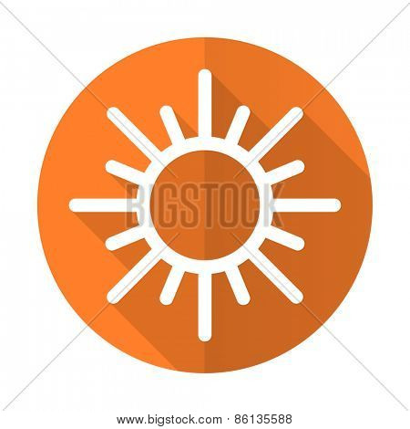 sun orange flat icon waether forecast sign