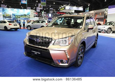 BANGKOK - MARCH 25: Subaru Forester car on display at The 36 th Bangkok International Motor Show on