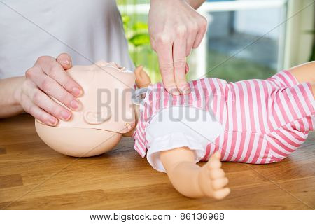 Baby Cpr One Hand Compression