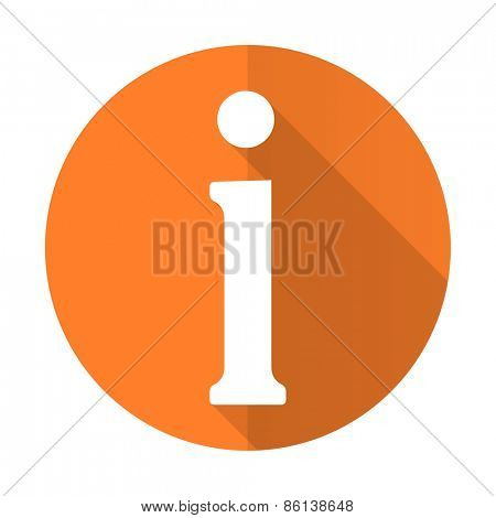 information orange flat icon