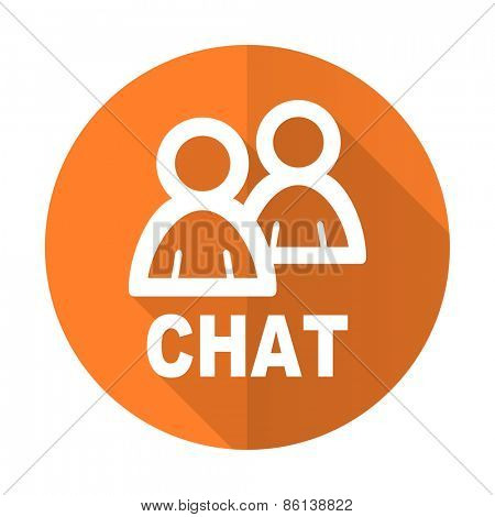 chat orange flat icon