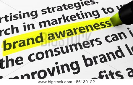 Brand Awareness Marketing And Advertising Concept