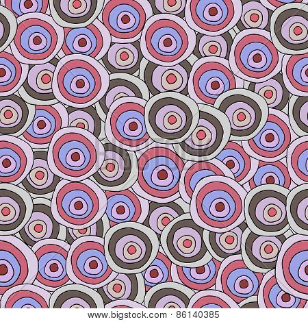 Vector seamless abstract pattern  in doodle style.