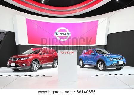 BANGKOK - MARCH 25: Nissan car on display at The 36 th Bangkok International Motor Show on March 25