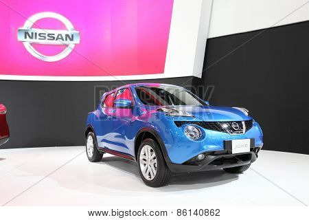 BANGKOK - MARCH 25: Nissan Juke car on display at The 36 th Bangkok International Motor Show on Marc