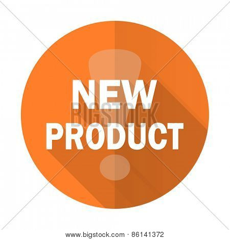 new product orange flat icon